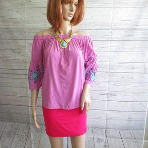 NWT - SIMPLY STYLED pretty blouse - sz L
